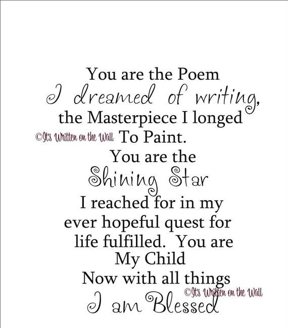 This is a beautiful poem/ quote.  My son is everything & anything to me. He is all that matters and all that is important in my world. Nothing is meaningful if not for him. There is no greater blessing in this world than the boy who stole my heart with his first heartbeat <3