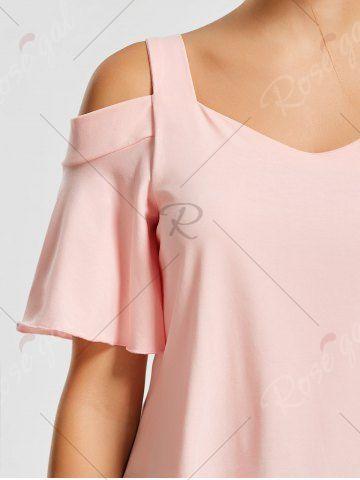 PINK Asymmetrical Cold Shoulder Top XL