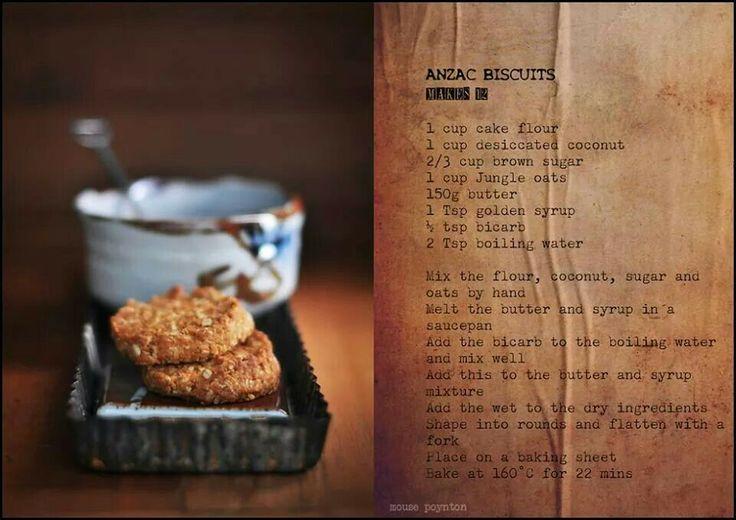 Anzac Biscuits Recipe from Cleopatra Mountain Farmhouse. Midlands Meander, KZN, South Africa www.midlandsmeander.co.za