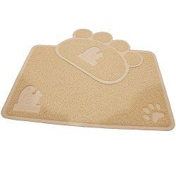 "Cat Litter Mat (2-Mat Set) – Soft and Durable Pet Litter Mats for Cats, Dogs, and Puppies – One Big (24.5"" x 16.5"") and One Small (15.5"" x 12.5"") by Pet Magasin"