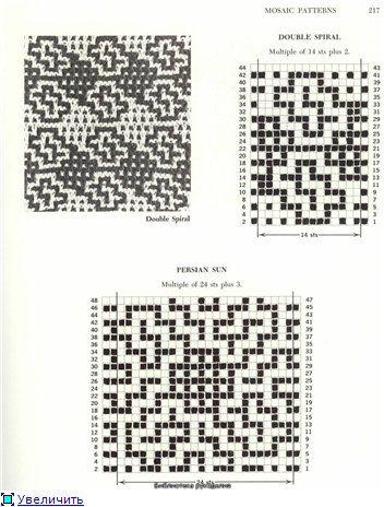 Мозаичные узоры спицами (2)