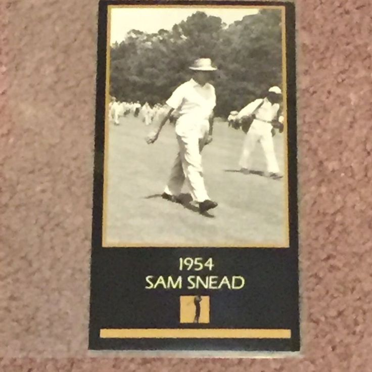 1954 Sam Snead Golf Card: The Masters Collection (Trading Cards, Sports, Fan)