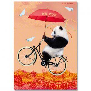 Affiche A4 Air Zoo Panda Héros de France - Henry et Henriette