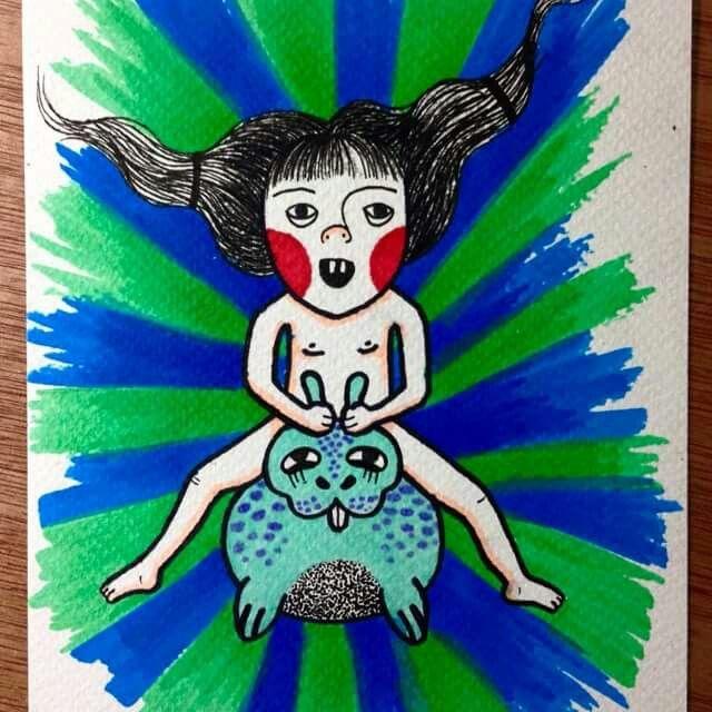 Ilustracion ZOE METAMORFA www.mantratattoo.cl