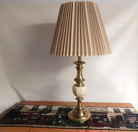 Vintage Stiffel Lamp Brass And Enamel Table Lamp Lamp Table Lamp Vintage Lamps