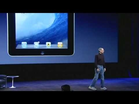 This is a slightly older, but classic video of Steve Jobs announcing to the world the news for the first time that Apple are launching their tablet computer iPad.
