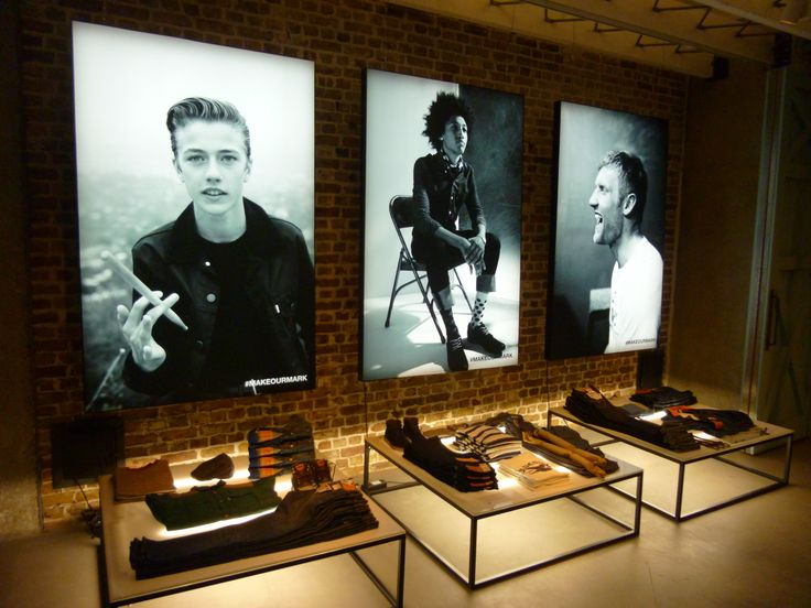 Levi's Frontier AW13 campaign - installation in Levi's Regent Street flagship store - September 2013