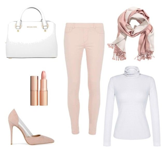 """All you need is a little pink ;-)"" by borbalastyle on Polyvore featuring Dorothy Perkins, MICHAEL Michael Kors, Charlotte Tilbury and IWearPinkFor"