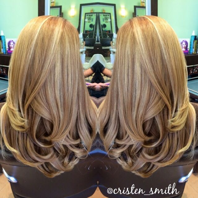 Blonde balayage & long layers