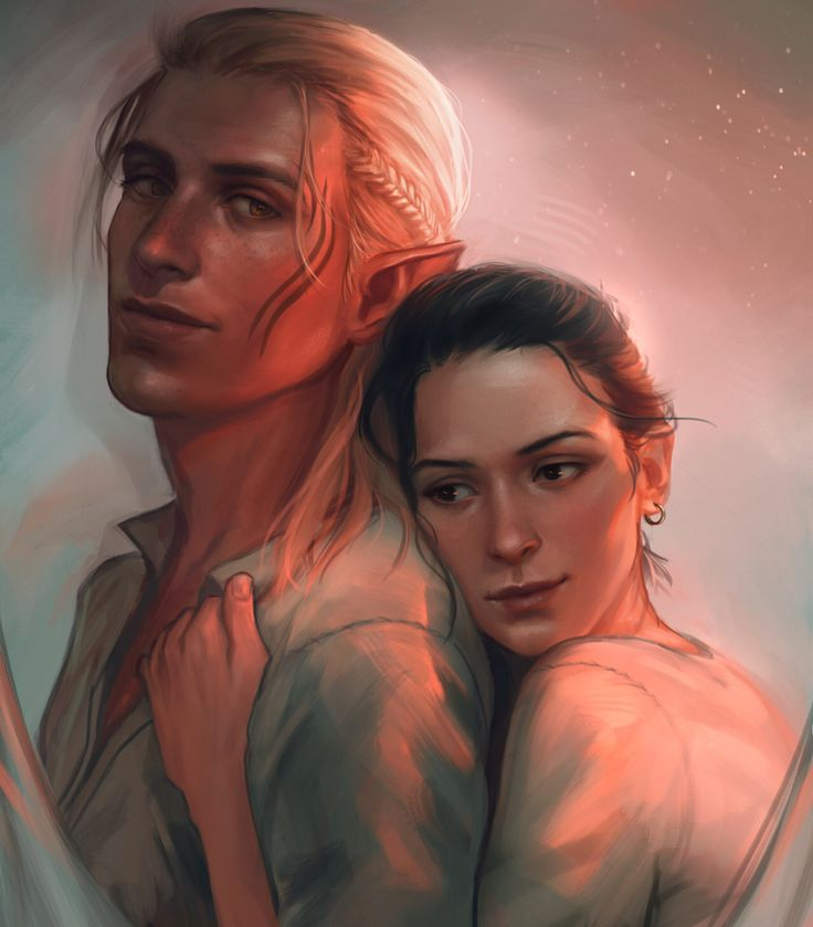 Zevran and Warden By http://withoutafuss.deviantart.com/ (They're just so cute together)