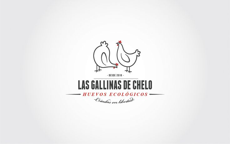 Las gallinas de CheloBrandingWe design the identity for this selling organic eggs company. The logo is headed by the protagonists of the business and serves to decorate all the stationary and bags. A simple design for a business just great: quality and…