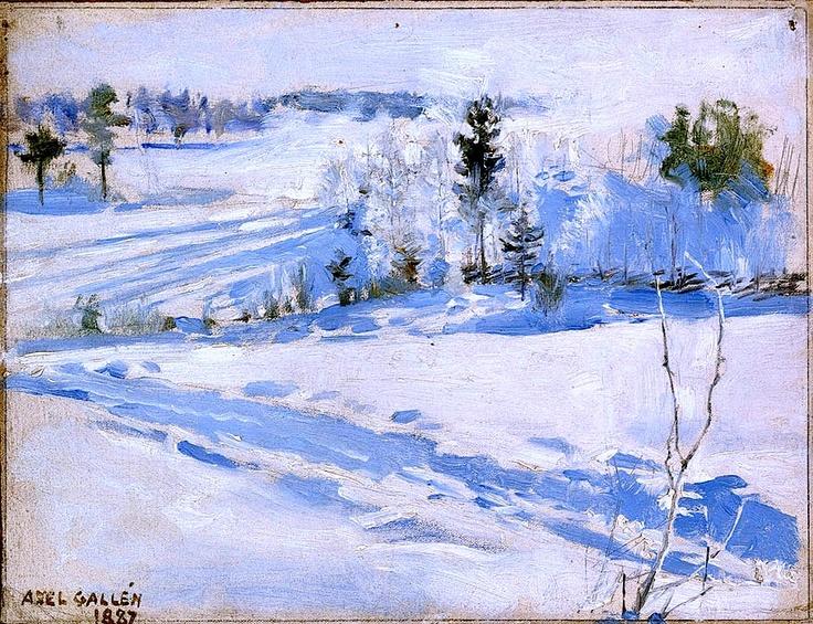 Winter Landscape - Akseli Gallen-Kallela - 1887
