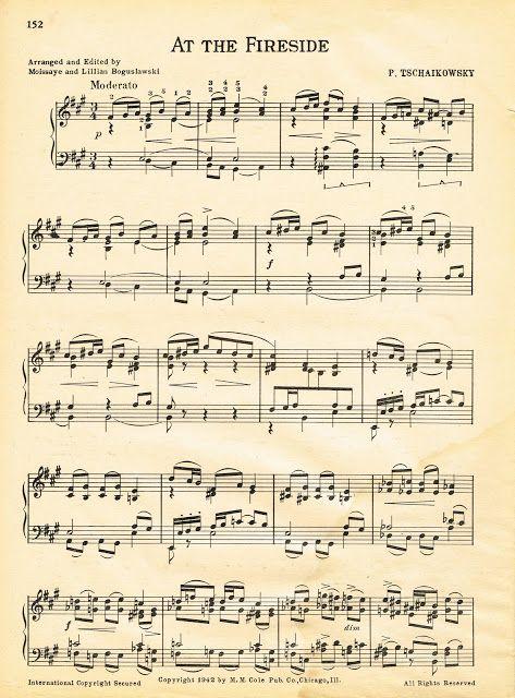 Free Printable Winter Sheet Music ~~~via http://knickoftimeinteriors.blogspot.com/