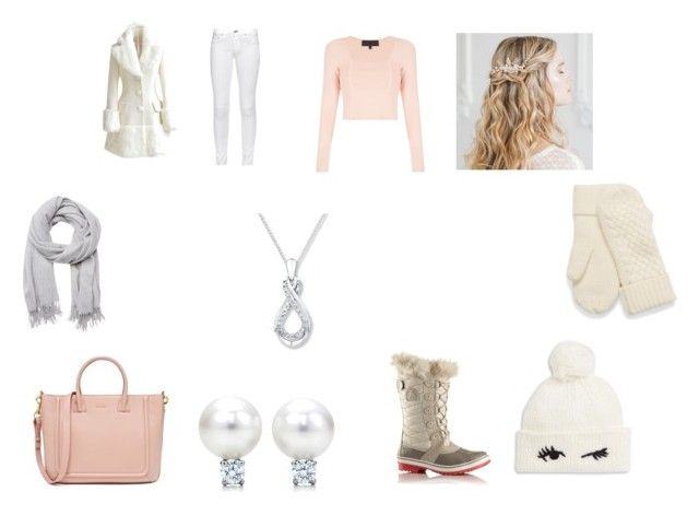 """""""Stylish Snow"""" by lbdenyer ❤ liked on Polyvore featuring WithChic, rag & bone, Kendall + Kylie, SOREL, Kate Spade and Witchery"""