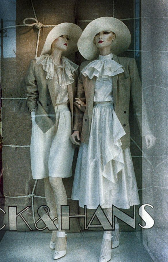 Our collection s/s '75 : all natural materials: silk, linen, wool and cotton lace.