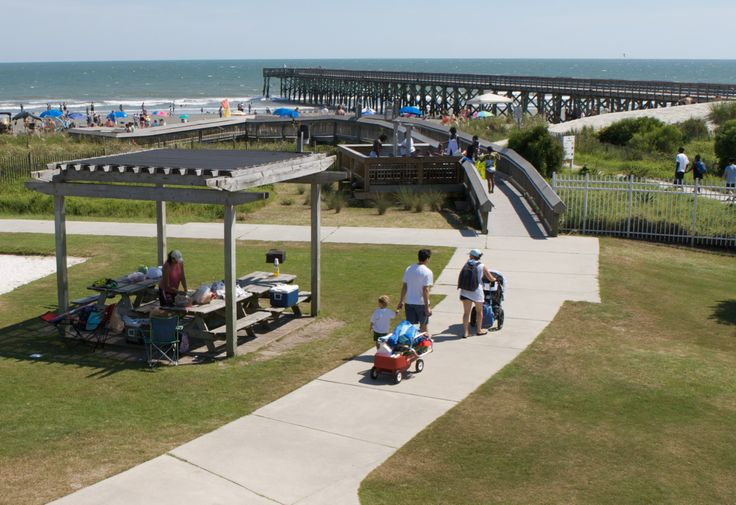 Families love Isle of Palms County Park for its beach as well as its playground and beach volleyball court. (IOP, South Carolina)