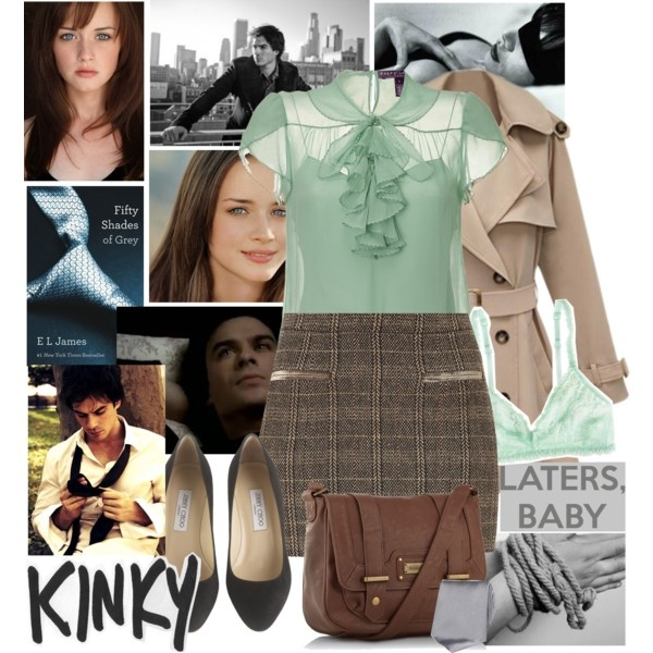"""""""Fifty shades of Grey inspired set"""" by gossipgiirlxoxo on Polyvore"""