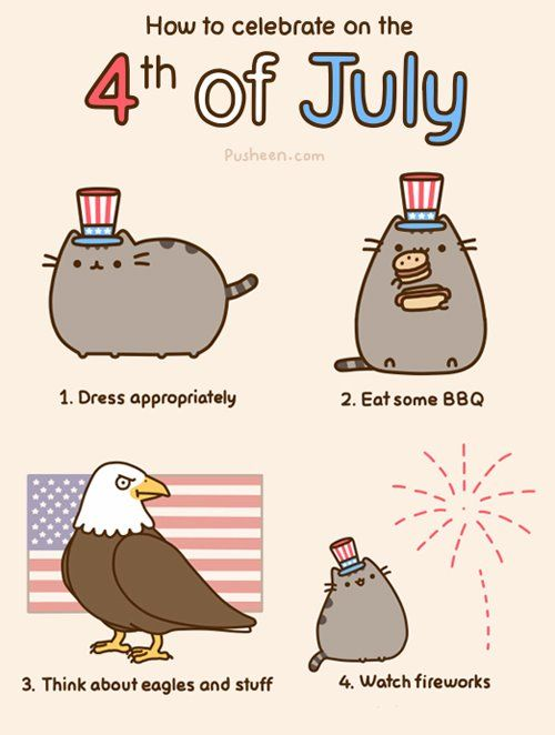 Pusheen likes 4th of july