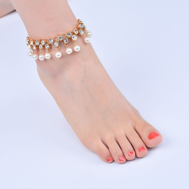 Occident and the United States alloy Diamond Anklet (H0120 silver)NHXR1403-H0120 silver