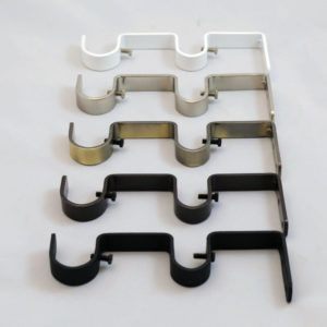 Large Double Curtain Rod Brackets
