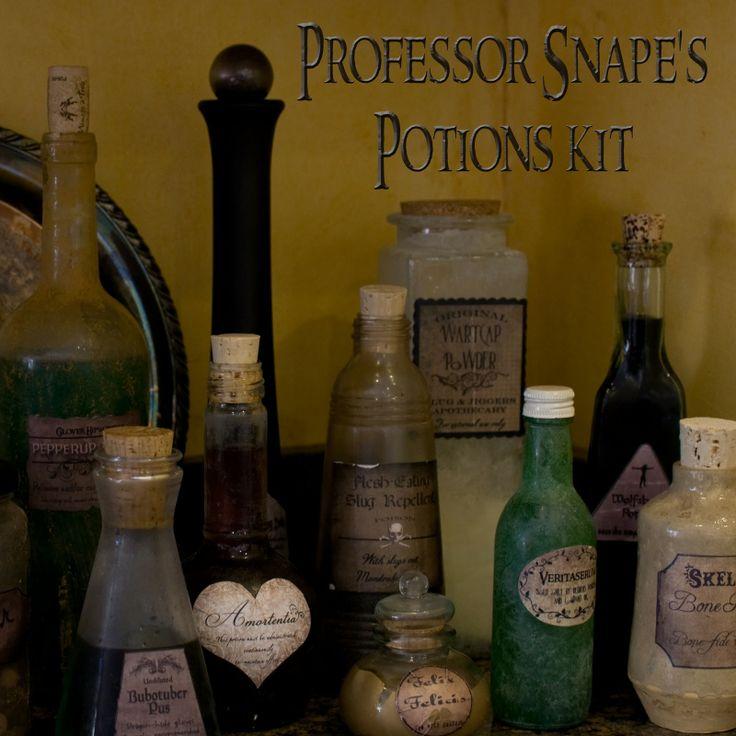Halloween Decor: Harry Potter Potion Bottles