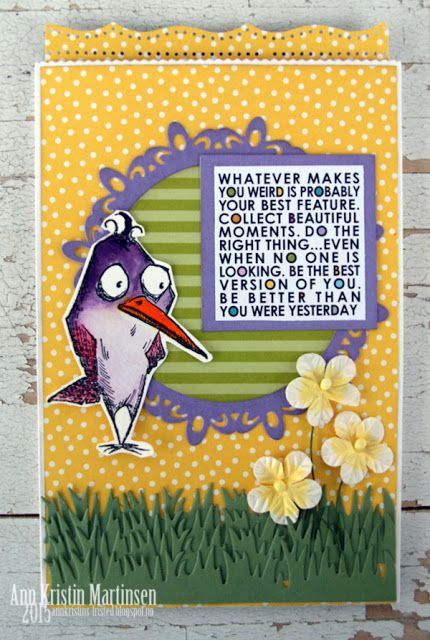 Ann Kristins fristed Tim Holtz bird crazy