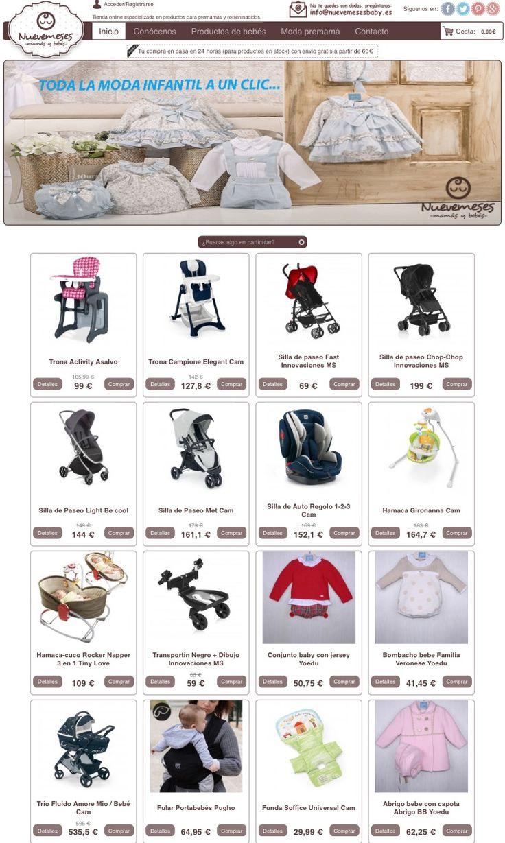 Miles de productos para mamás y bebes a tu alcance. Visítanos en www.nuevemesesbaby.es