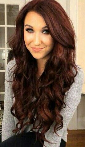 Dark red hair.                                                                                                                                                     More