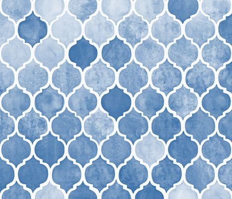 Textured Blue Moroccan fabric by micklyn on Spoonflower   custom