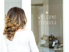 Wandtattoo - WELCOME ★ GOODBYE Fenstersticker / Glastür - ein Designerstück von little_livery bei DaWanda