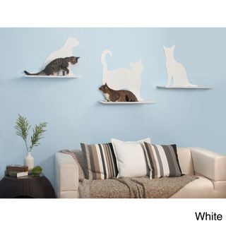 Show your love for your cat while giving them a large comfy place to rest off the floor. The Cat Silhouette Cat Shelves are laser cut from high grade steel, powder coated, and offered in a varieties o