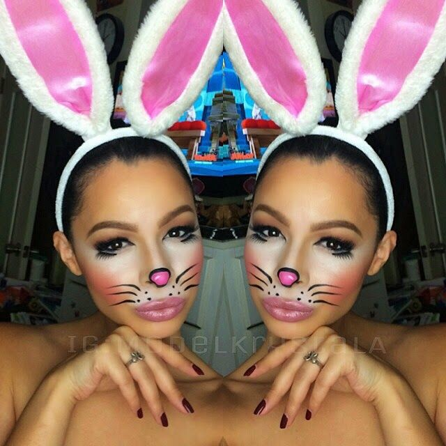 Krystal Allen Beauty: Halloween 2014: Cute Bunny Makeup