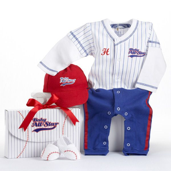 17 best personalized baby clothes images on pinterest babies baby aspen big dreamzzz baby baseball layette set in all star gift box blue months aspen brands babies r us negle Image collections