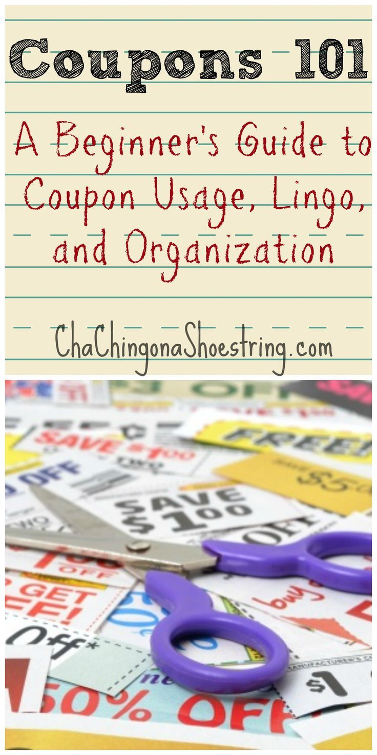 Coupons 101: Simple beginner's guide to get you started with saving money with coupons!