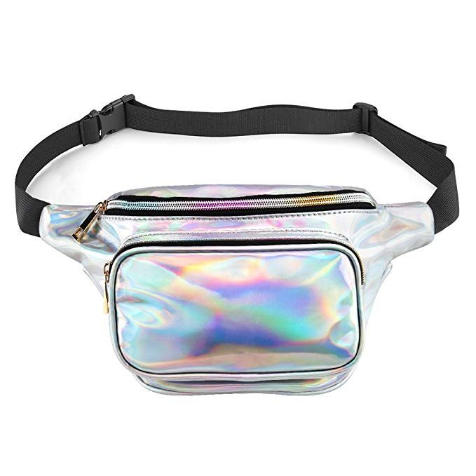 dac0feb5548a accmor Holographic Fanny Pack Waterproof, Resistant Shiny Neon Fanny ...