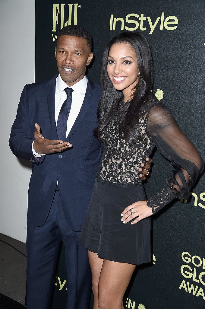 Jamie and Corinne Foxx at InStyle Golden Globes Event | POPSUGAR Celebrity
