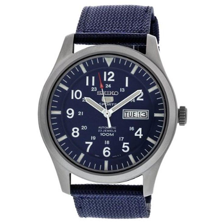 SEIKO 5 Sports SNZG11J1 Orologio Militare da Polso Automatico Uomo Made in Japan #seiko #military #men #wristwatch #serie #5 #sport #nato #strap #blue