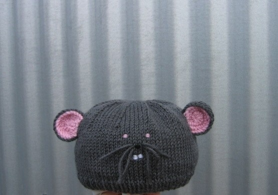 Mouse hat featured in the 2011 winter edition of by HotScones, $35.00
