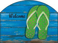 Green Flip Flops Garden Sign