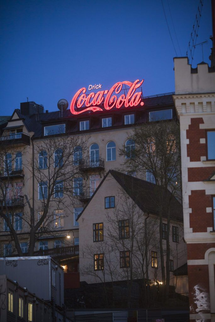 Coca Cola Slussen Stockholm Corporate Signage Neon Advertising