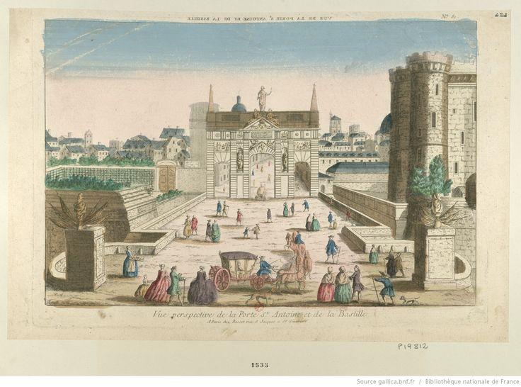 Vue perspective de la porte St Antoine et de la Bastille. N° 51 : [estampe]