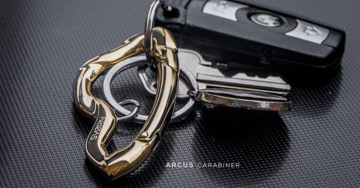 ARCUS carabiner keychain in luxurious Arctic Gold finish.   SVØRN  #edc #gear #gadget #gift #mensgift #giftsforhim #carbon #design #car #mensaccessories #accessoriesformen #mensstyle #luxury #streetwear #pocketdump #pocket #style #keychain #carabiner #carabiners #edcgear #mensjewelry #jewelryformen #jewelleryformen #bmw #streetluxe #streetstyle #streetstyleluxe #edcgear #gold