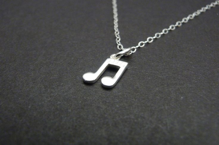 Music Note Necklace, Singer Gift, Music Teacher gift, Musician Gift, Sterling Silver Jewelry by NKDNA on Etsy