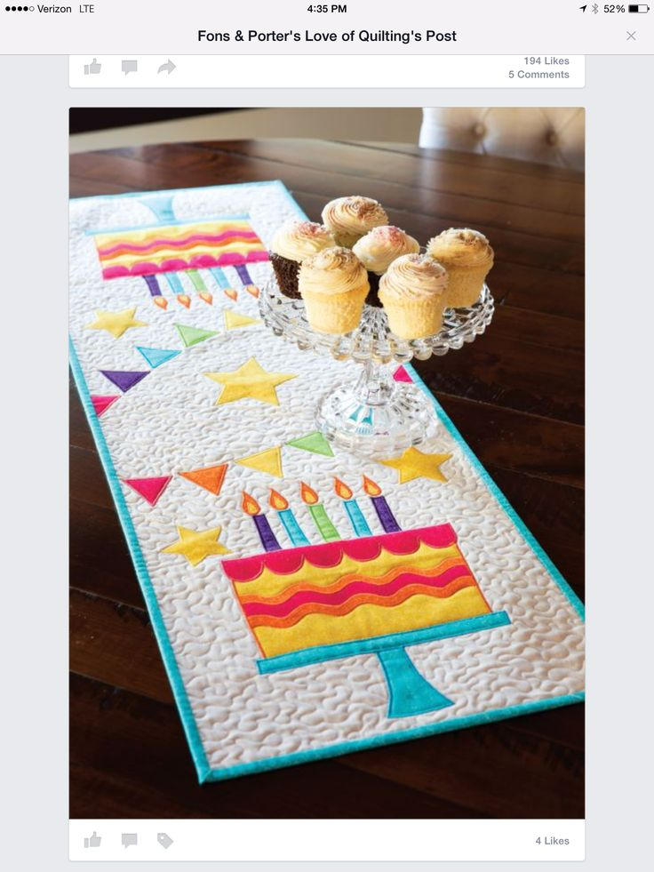 should really make a birthday tablerunner