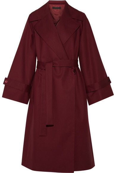 The Row - Swells Oversized Stretch-cotton Coat - Claret #affiliate