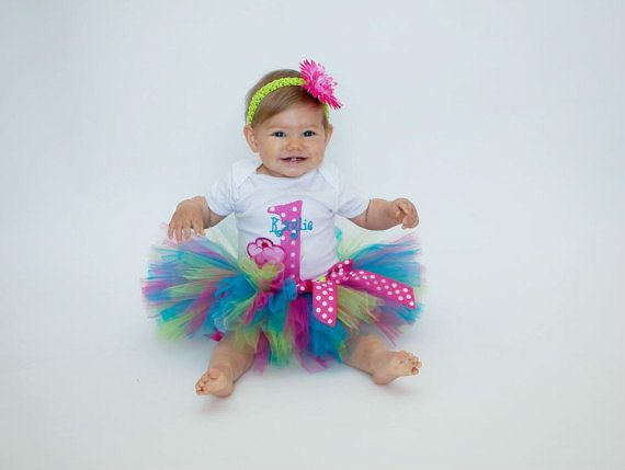 First Birthday Tutu Outfit--Baby Girl 1st Birthday Tutu Set--Cupcake--Party Outfit--Personalized