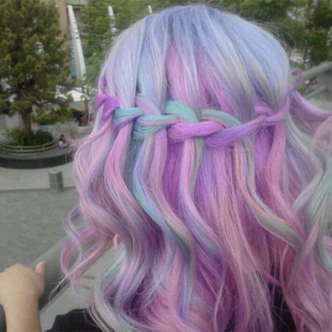 Sandart hair colour  Purple Violet Red Cherry Pink Bright Hair Colour Color Coloured Colored Fire Style curls haircut lilac lavender short long mermaid blue green teal orange hippy boho ombré   Pulp Riot