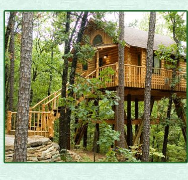 Treehouse cottages in eureka springs my favorite place in for Tree house cabins arkansas