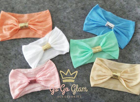 Set de 6 turbantes para bebé // Set de bandas por GoGoGlam en Etsy