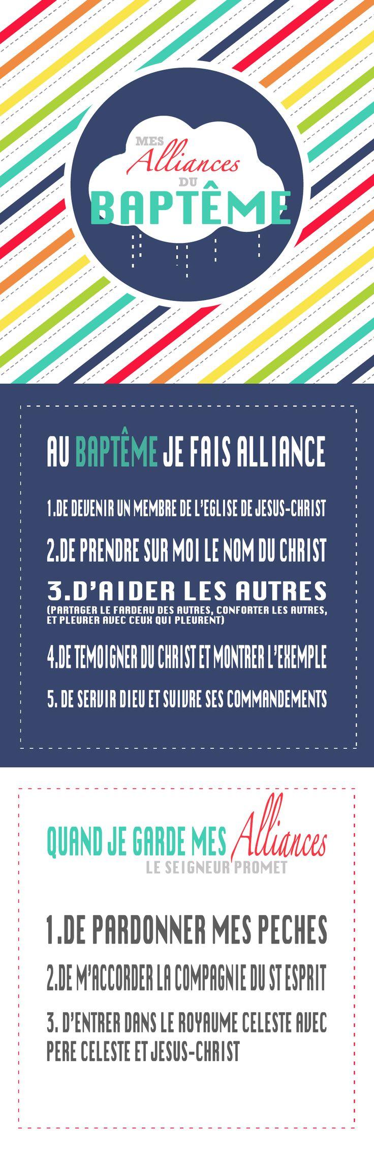 marque page - alliances du baptême - JEUNES FILLES - LDS